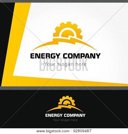 Energy company logo style