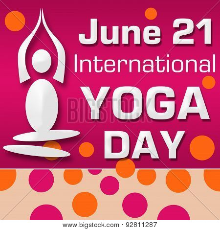 Yoga Day Pink Orange Dots