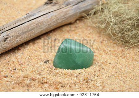 Aventurin On Beach