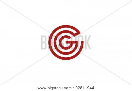 Letter G Logo vector alphabet design element template. ABC concept type as logotype. Typography icon line art