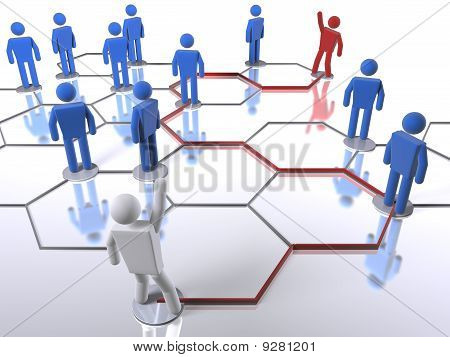 Searching for the right person in a business network