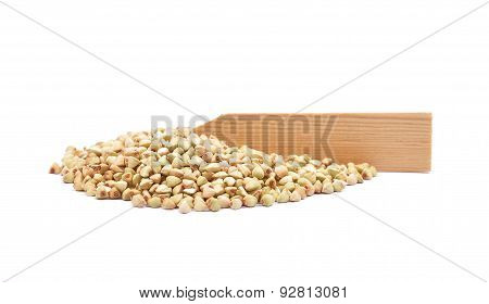 Buckwheat On White