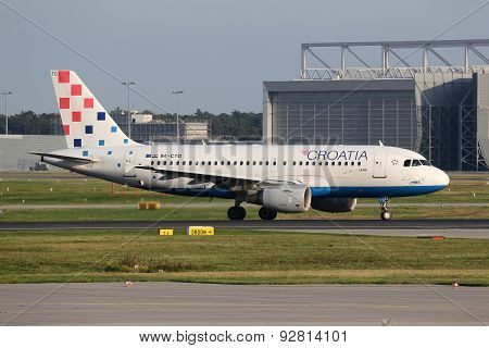 Croatia Airlines Airbus A319 Airplane