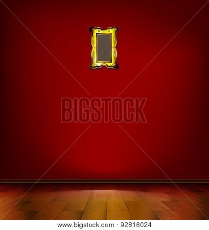empty red room