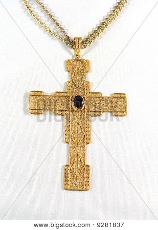 An Elaborate Gold Cross