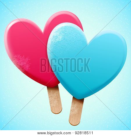 Bright Ice Cream On A Stick
