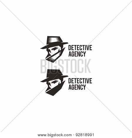 Detective agency logo. Vintage label in high resolution.