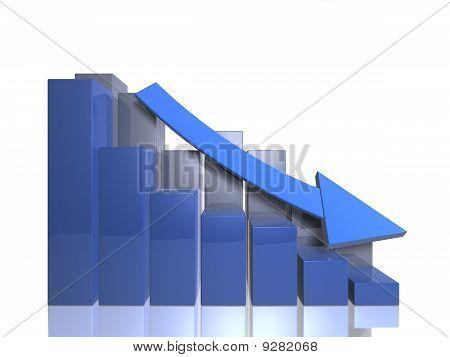 Bar graph descending - front view