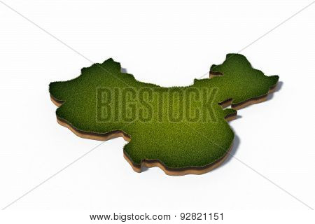 People's Republic Of China (prc) 3D Map