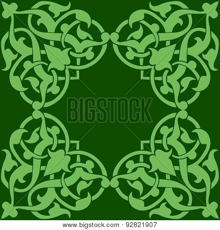 decor on green background