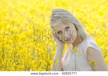 Woman in the rape field