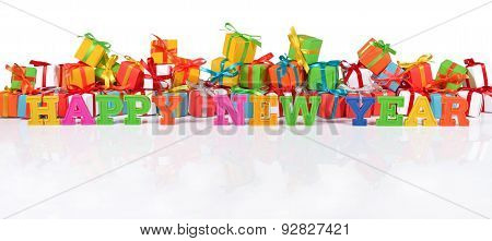 Happy New Year Colorful Text