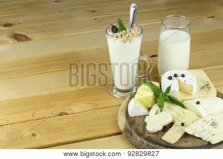 Various kinds of dairy productsarious kinds of dairy products.