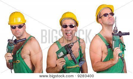 three serviceman