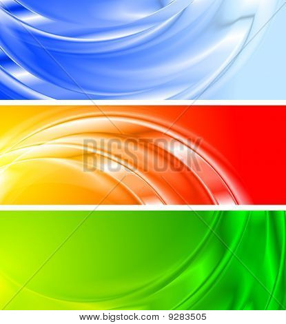 Colourful Banners (no Gradient Mesh)