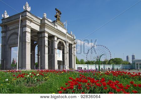 The All-russian Exhibition Center (vdnkh) In Moscow, Russia