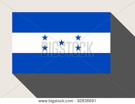 Honduras flag in flat web design style.