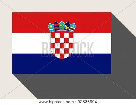 Croatia flag in flat web design style.