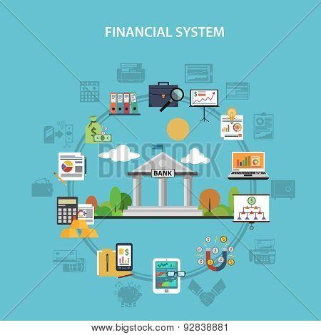 Finance Concept Flat