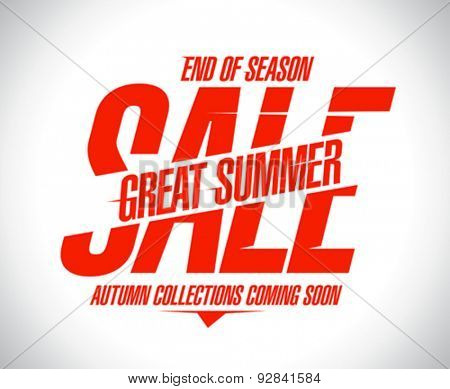 End of season summer sale design
