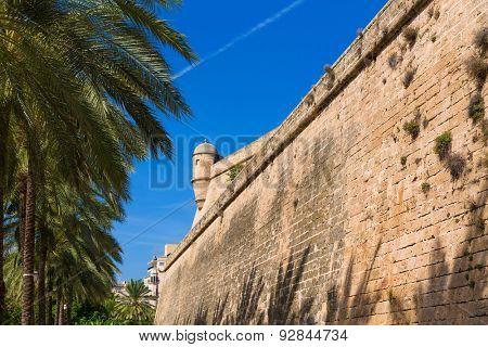 Majorca Es Baluard facade in Palma de Mallorca Balearic islands of Spain
