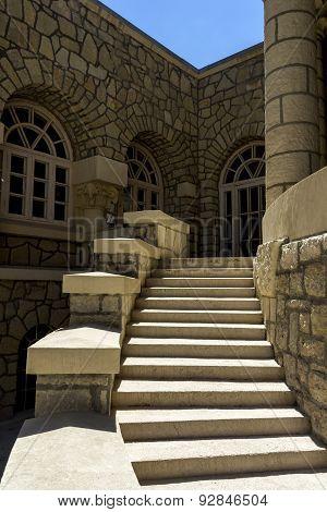 Ancient Stairs In The Mud Bath In Essentuki.