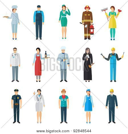 Profession avatar icons set