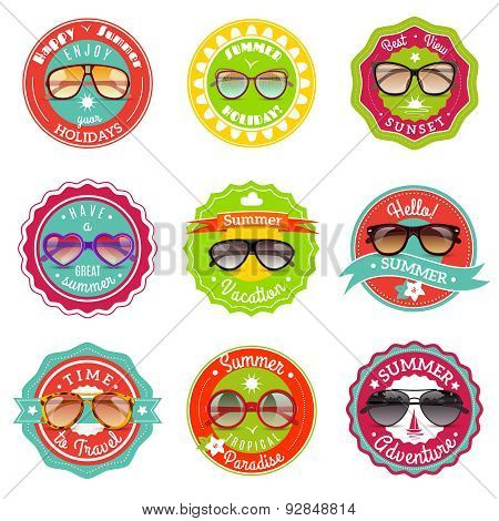Sun glasses summer sale labels