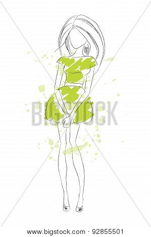 Sketch Model Vector Illustration