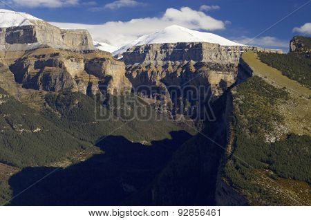 Mondarruego peak in Ordesa National Park, Pyrenees, Huesca, Aragon, Spain.