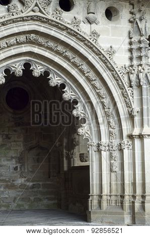 San Victorian chapel in San Juan de la Pena Monastery, Huesca, Aragon, Spain.