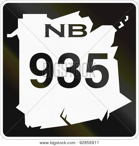 New Brunswick Highway Marker 935