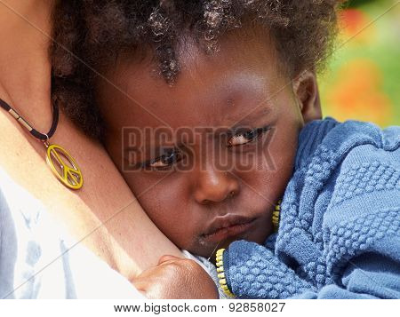 Adorable Black Sad Baby Crying