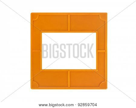 Photo frame for slide isolated on white background