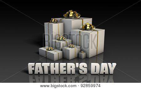 Father's Day Gifts With Elegant Gold Ribbons