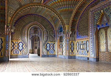 The Magnificent Peacock Room Inside The Sammezzano Abandoned Castle