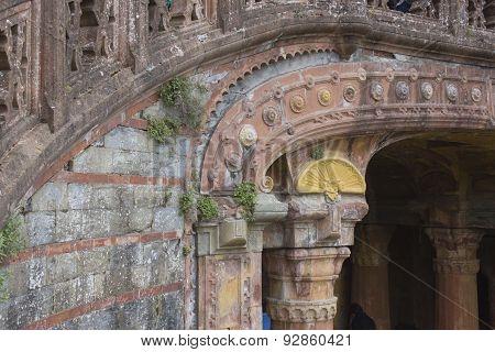 Close Up Of The Balustrade Outside Sammezzano Castle