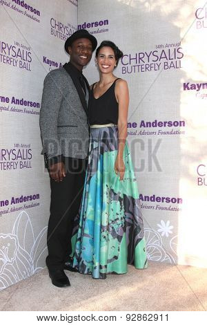 LOS ANGELES - JUN 6:  Aloe Black, guest at the 14th Annual Chrysalis Butterfly Ball at the Private Residence on June 6, 2015 in Los Angeles, CA