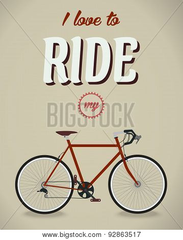 Bicycle sign. Beatles album. Famous song. Flat design style