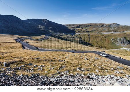Transalpina The Highest Altitude Road Crossing The Caphatian Mountains In Romania
