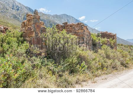 Ruins Of Old Toll House On The Swartberg Pass