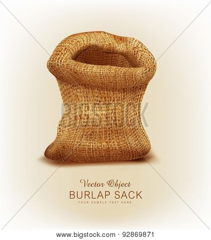 Vector object- a burlap sack
