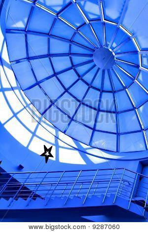 techo de cristal azul contemporánea dentro de la Oficina Centro de negocios