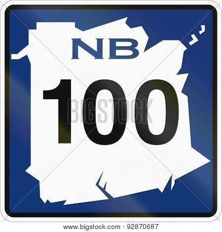 New Brunswick Highway Marker 100