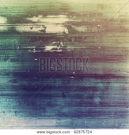 Grunge stained texture, distressed background with space for text or image. With different color patterns: brown; gray; blue; green