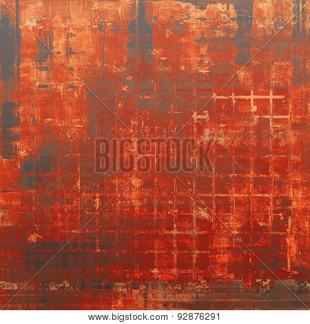Old abstract grunge background, aged retro texture. With different color patterns: brown; gray; black; red (orange)