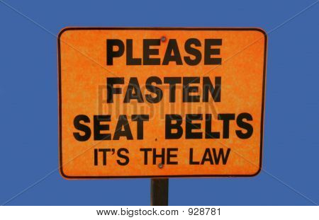 Please Fasten Seatbelts Sign