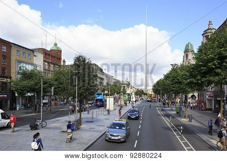Spire of Dublin in O Connell Street
