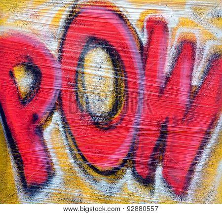 Street art POW
