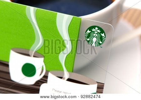 Starbucks card available for member in Thailand.